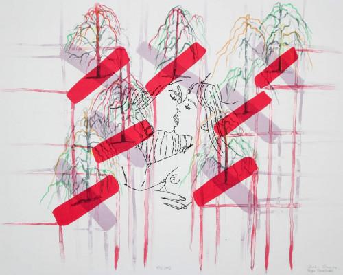 Kiss Cross by Ghada Amer and Reza Farkhondeh