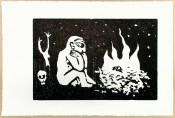 Mann am Feuer