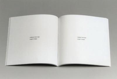 Stanley Brouwn, ell / ells - step / steps, 1998