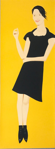 Alex Katz, Black Dress 7 (Carmen), 2015