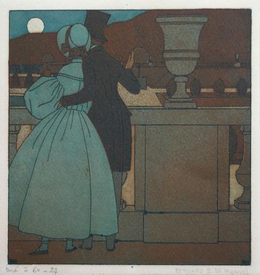 Bernard Boutet de Monvel, Couple Looking at the Moon, 1908