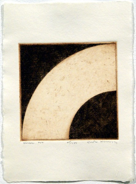 "Gordon House, Small Arc (from ""Eighteen Small Prints""), 1973"