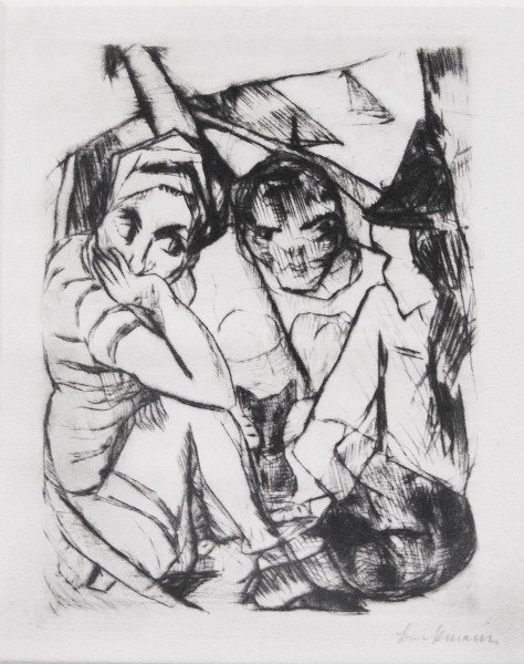Max Beckmann, Illustration for Chapter One, from: The Duchess |  Die Fürstin, 1917