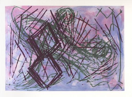 A.R. Penck, Schmerzblatt I, 1989