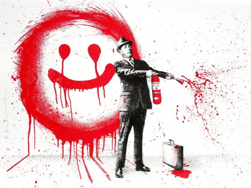 Mr. Brainwash, Spray Happiness Red, 2018