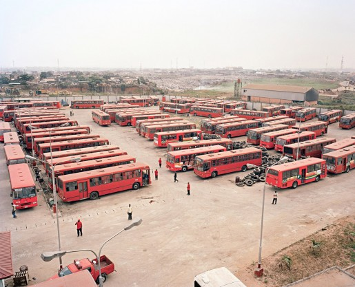 Julian Röder, New public buses of LAGBUS Ltd at Ojota Bus Terminal, Lagos, Nigeria, 2009