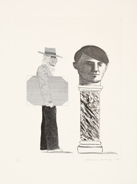 David Hockney, The Student: Homage to Picasso, 1973