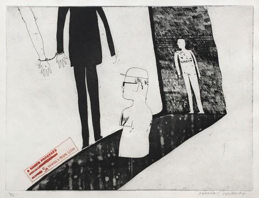 David Hockney, Viewing a Prison Scene, 1961-63