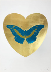 I Love You - Gold Leaf/Turquoise/Oriental Gold