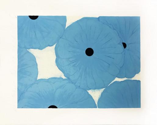 Donald Sultan, Six Blues, 2006