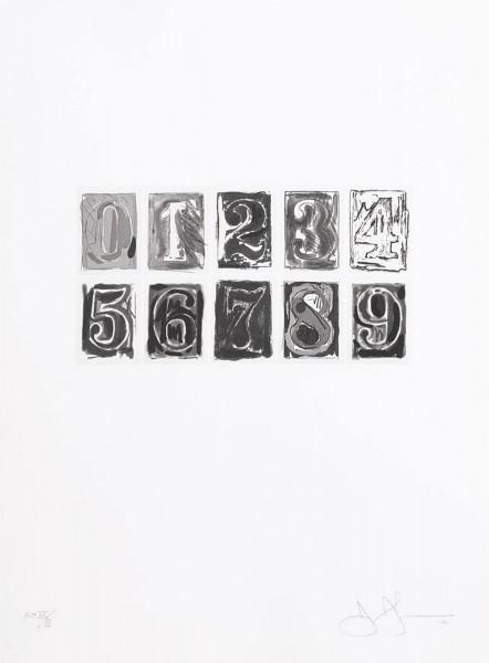 Jasper Johns, 0-9, 1975