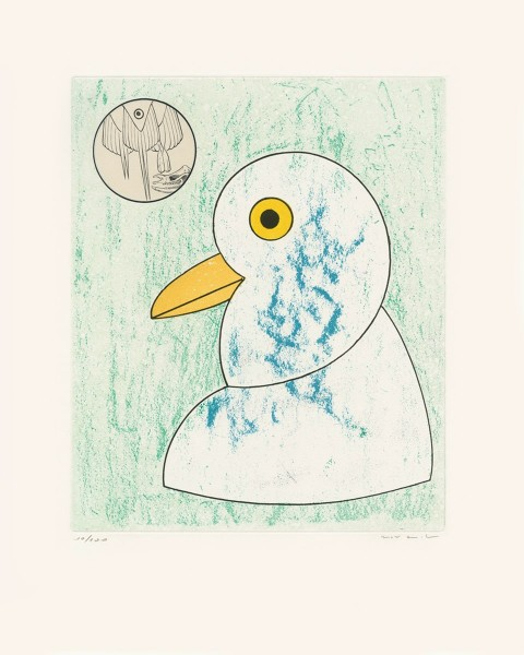 """Max Ernst, Nous sommes la somme de nos envergures, from """"Oiseaux en péril"""", 1975"""