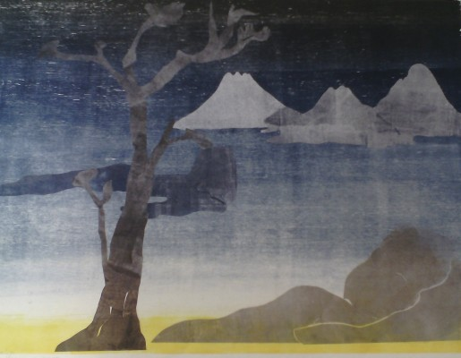 Leiko Ikemura, Paisajes con el monte Fuji, 2015