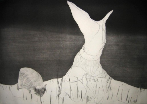 Nicola Tyson, Pastoral: Figure and Grazing Animal, 2007