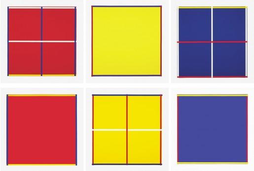 Imi Knoebel, Rot, Gelb, Weiss, Blau, 1995
