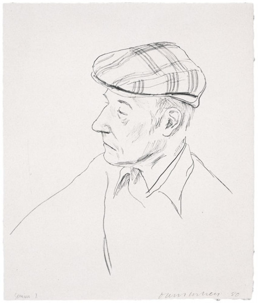 David Hockney, William Burroughs, 1981