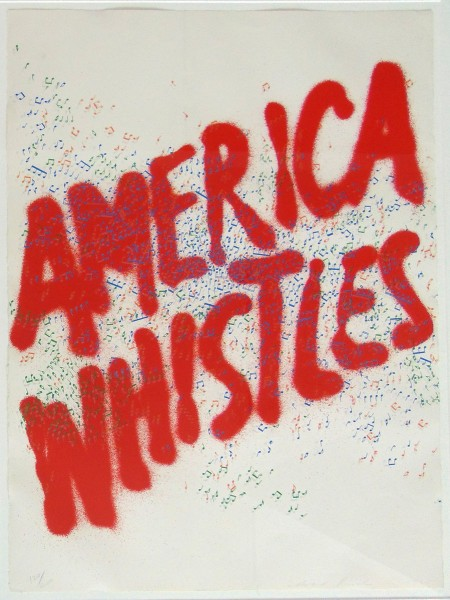 Ed Ruscha, America Whistles, from: America the 3rd Century, 1975