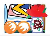 Still Life with Lichtenstein and Two Oranges
