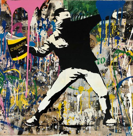Mr. Brainwash, Banksy Thrower, 2018