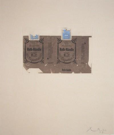 Roth-Handle II (brown) by Robert Motherwell