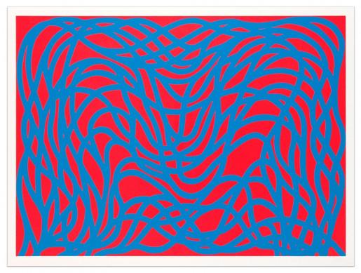 Sol LeWitt, Loopy Doopy, Blue/Red, 2000
