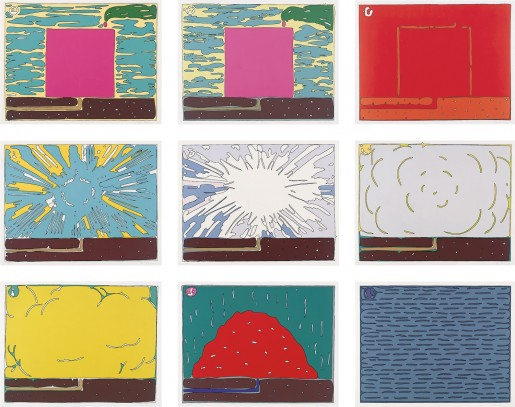 Peter Halley, Exploding Cell, 1994