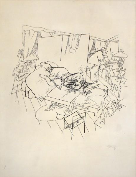 George Grosz, Sex Murder in Ackerstrasse, from: Ecce Homo | Lustmord in der Ackerstraße: Ecce Homo, 1916/17