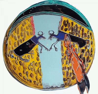"""Plains Indian Shield (FS II.382), from the Portfolio """"Cowboys and Indians"""" by Andy Warhol"""