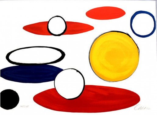 Alexander Calder, Our Unfinished Revolution: Circles with Eyes, 1975-1976