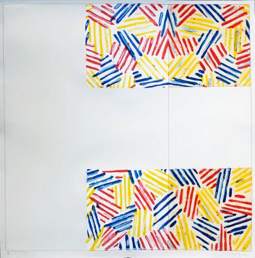 """Jasper Johns, #2 (after """"UNTITLED 1975""""), 1976"""