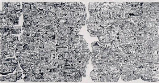 Öyvind Fahlström, World map, 1973