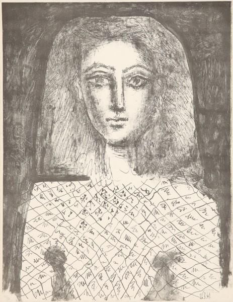 Pablo Picasso, Le Corsage à Carreaux, 1949
