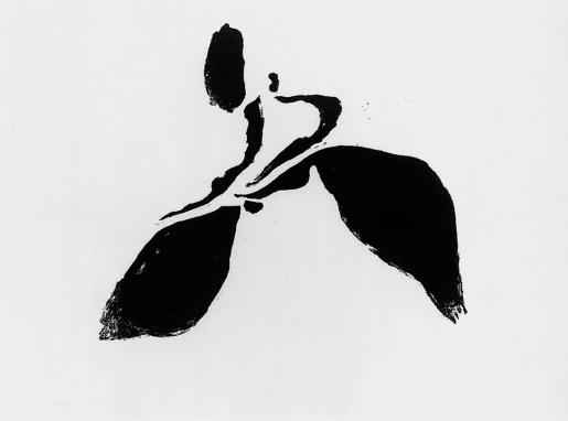 Willi Baumeister, Läufer-Läufer auf Folie-Springer, 1952