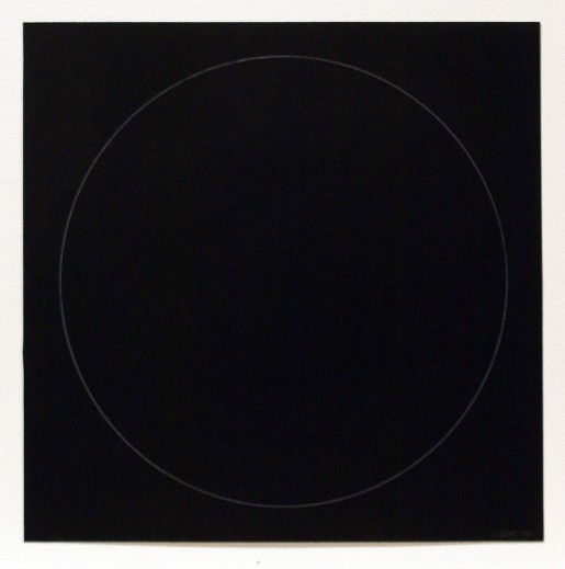 Sol LeWitt, Six Geometric Figures - Circle, 1977