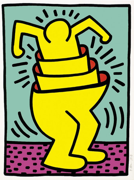 "Keith Haring, Untitled from the Portfolio ""Kinderstern"", 1989"
