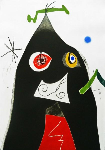 Joan Miró, Plate I, from: Quatre colors Aparien el Món, 1975