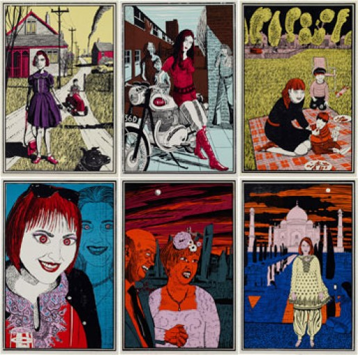 Grayson Perry, Six Snapshots of Julie, 2015