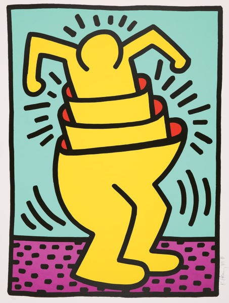 Keith Haring, Untitled, from the Kinderstern Portfolio, 1989
