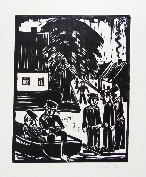 Max Pechstein, Fischer am Ufer - Sonntag der Fischer (Fishermen on the Shore - Fishermens' Sunday), 1923