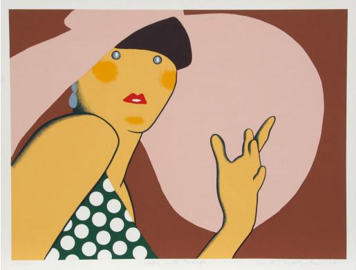 Kiki Kogelnik, Lady with Hat, 1980