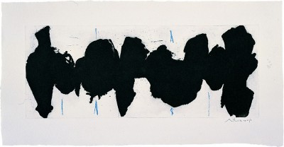 Running Elegy II, Blue State by Robert Motherwell