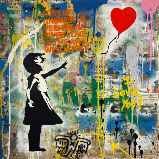 Mr. Brainwash, Balloon Girl, 2019