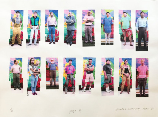 David Hockney, LA Visitors (a seven page portfolio) - page 7, 1990-1991