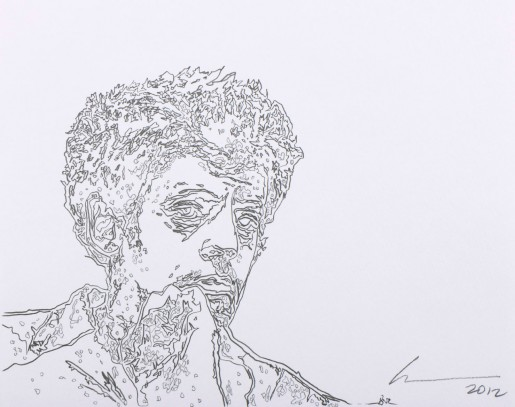 Robert Wilson, Portrait of Philip Glass, 2012