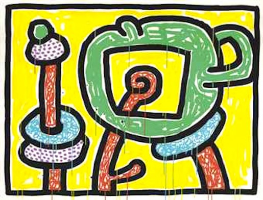 Keith Haring, Flower #3, 1990