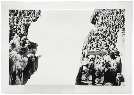 John Baldessari, Crowds with Shape of Reason Missing: Example 3, 2012