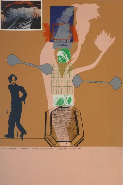 R.B. Kitaj, His Every Poor, Defeated, Loser's, Hopeless Move, Loser, Buried (Ed Dorn), 1966