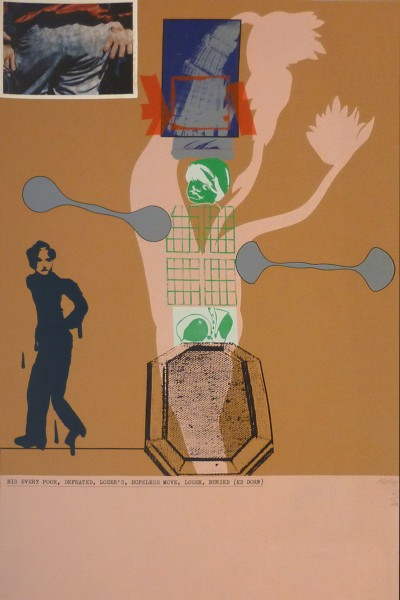 R.B. Kitaj, His Every Poor, Defeated, Loser's, Hopeless Move, Loser, Buried (Ed Dorn), 1966