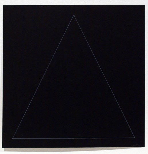 Sol LeWitt, Six Geometric Figures - Triangle, 1977