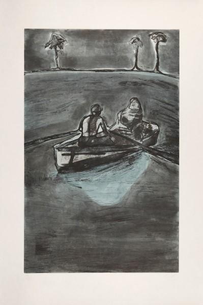 Peter Doig, Two People at Night (Indigo), 2016